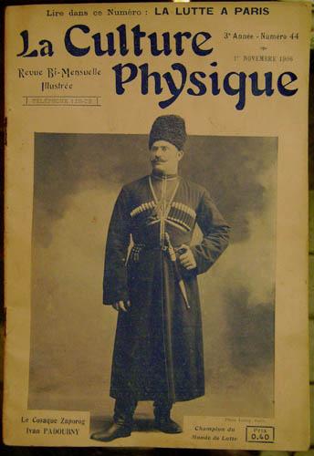 Поддубный на обложке французского журнала
